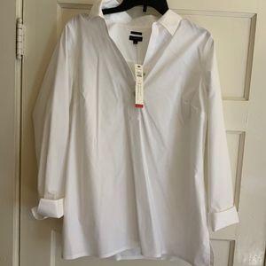 Talbots white blouse